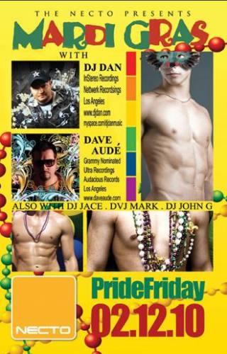 The Necto presents Mardi Gras w/ DJ Dan and Dave Aude