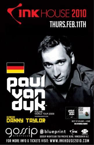 INK HOUSE 2010: PAUL VAN DYK