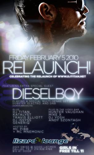 Relaunch! featuring Dieselboy