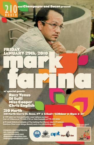 210 North and Champagne and Bacon present Mark Farina
