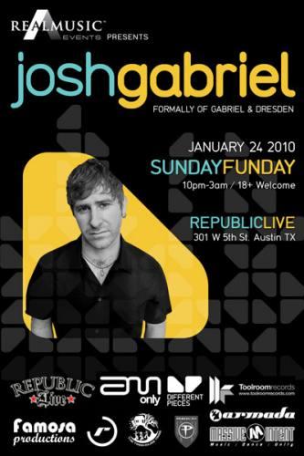 Josh Gabriel @ Republic Live