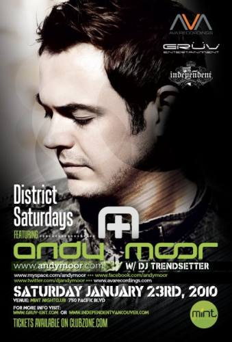 District Saturdays featuring Andy Moor