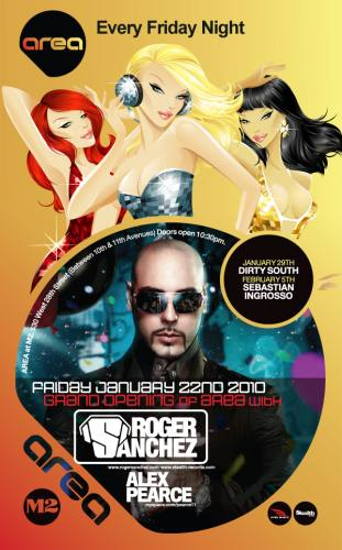 AREA @ M2 - Grand Opening with Roger Sanchez