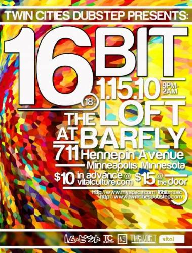 Twin Cities Dubstep presents 16bit