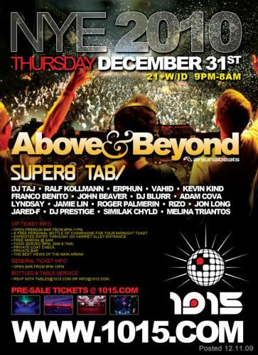 NYE 2010: Above and Beyond