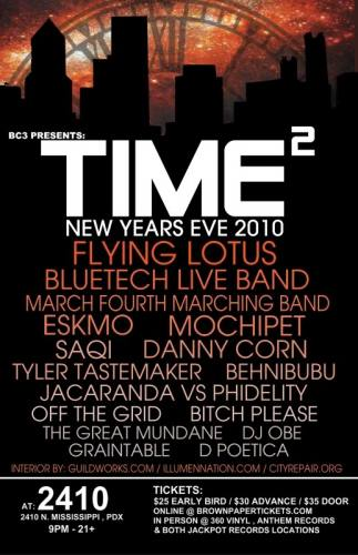 New YEAR'S EVE 2010: TIME SQUARED