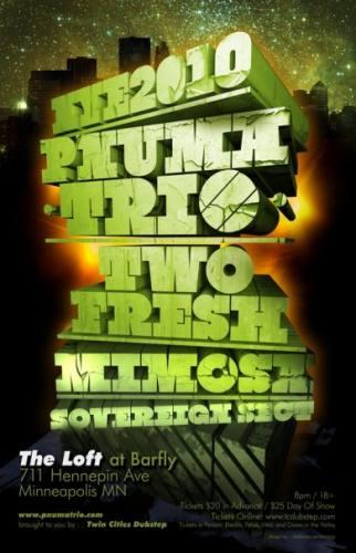 Twin Cities Dubstep presents Pnuma Trio NYE 2010