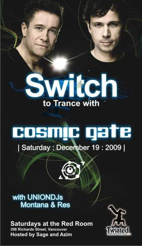 Switch to Trance with Cosmic Gate