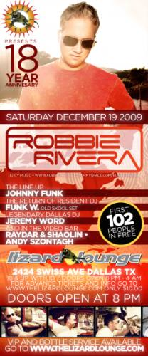 18th Anniversary Bash with Robbie Rivera