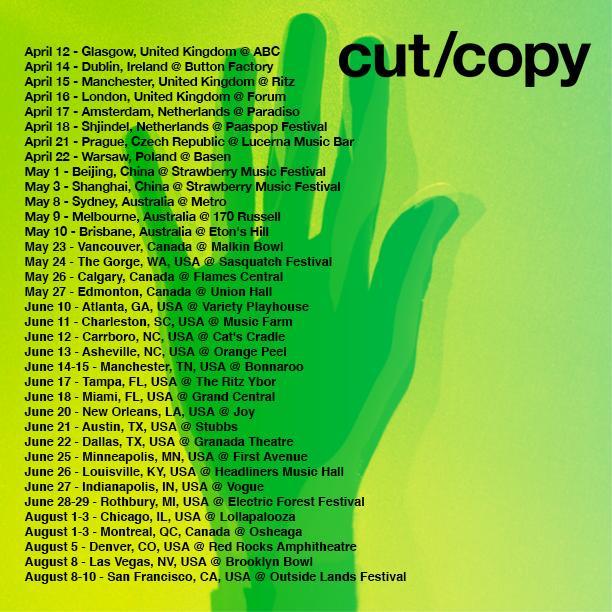 Cut Copy Dj Tour