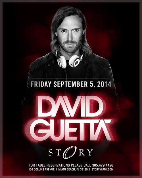 David Guetta @ STORY Miami (09-05-2014) (Miami Beach, FL) | Tickets