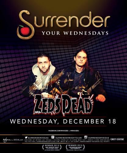 Zeds Dead @ Surrender Nightclub (12-18-2013)