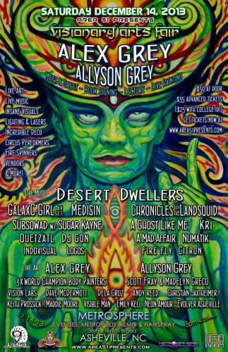 Area51 Presents: Visionary Arts Fair w/ ALEX GREY, Desert Dwellers, GalaxC Girl