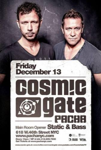 Limitless Music presents Cosmic Gate w/ opening set by Static & Bass