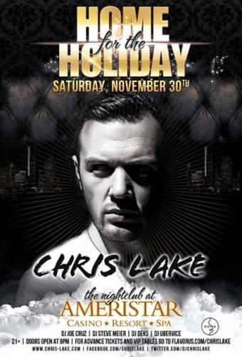 CHRIS LAKE at The Nightclub at Ameristar 11/30