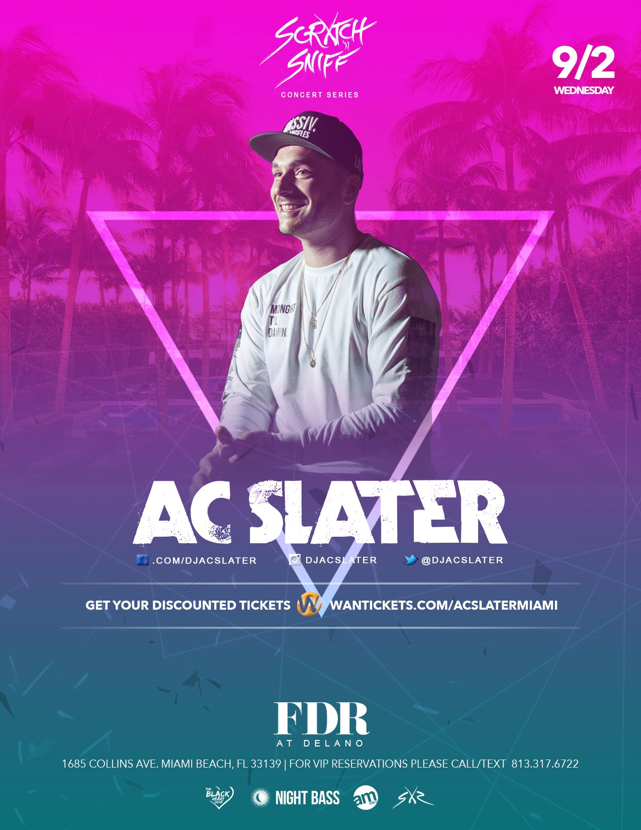 Ac Slater Live At Fdr Delano Miami Beach Fl Tickets