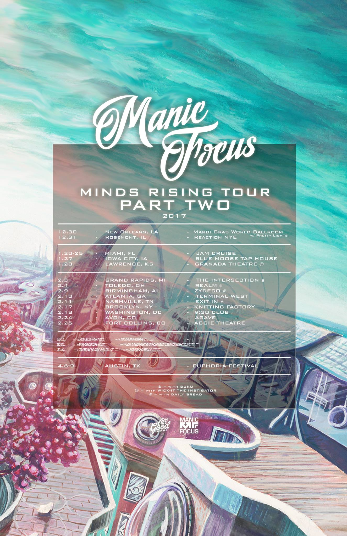 Knitting Factory Brooklyn Tickets : Manic focus knitting factory brooklyn ny