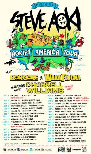 Steve Aoki w/ Waka Flocka Flame & Borgore @ The Fillmore Detroit