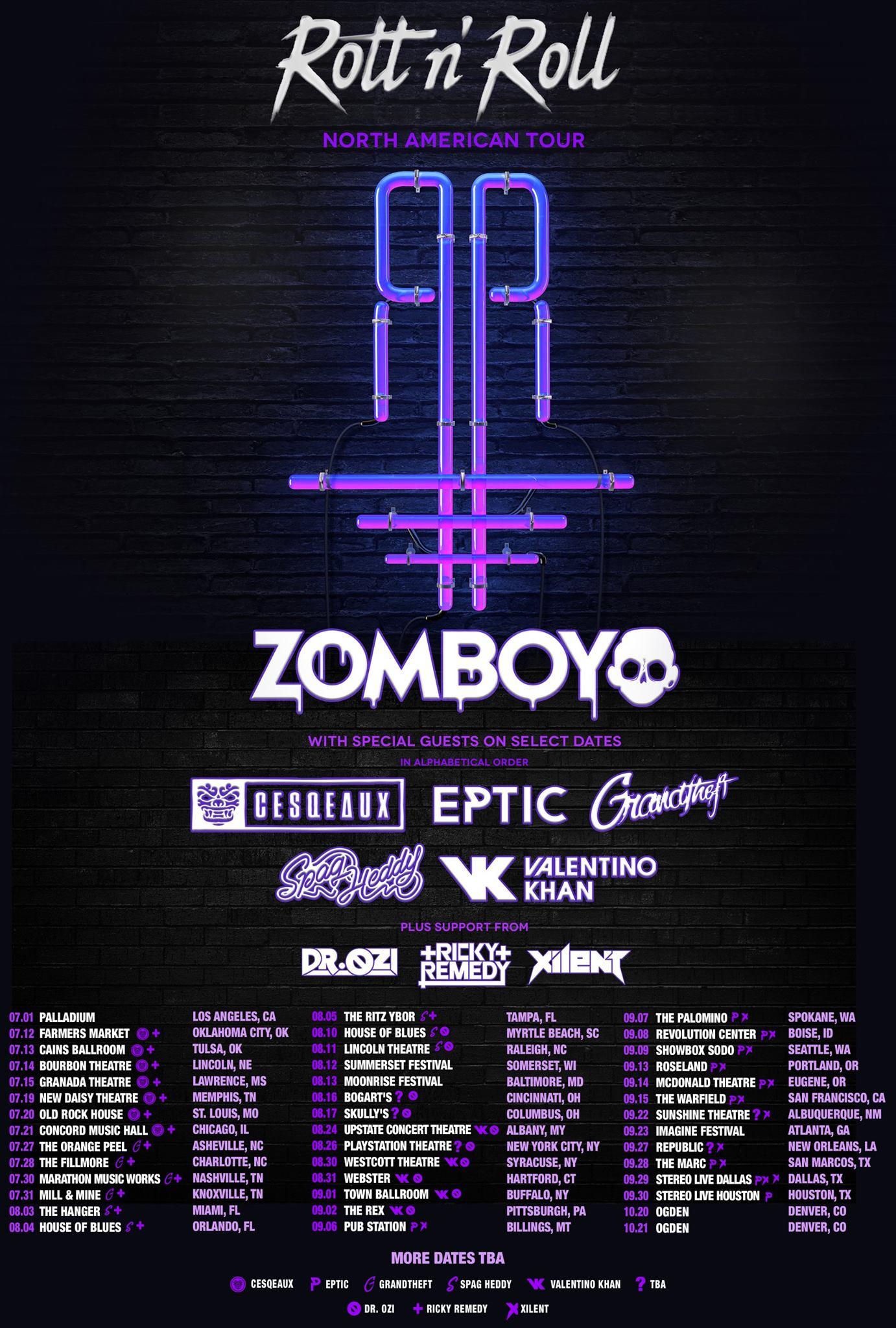 Zomboy in Atlanta  Zomboy tickets 2019  Concertboom