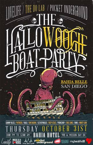 The HalloWoogie Boat Party presented by The Do LaB, Pocket Underground and Lovelife