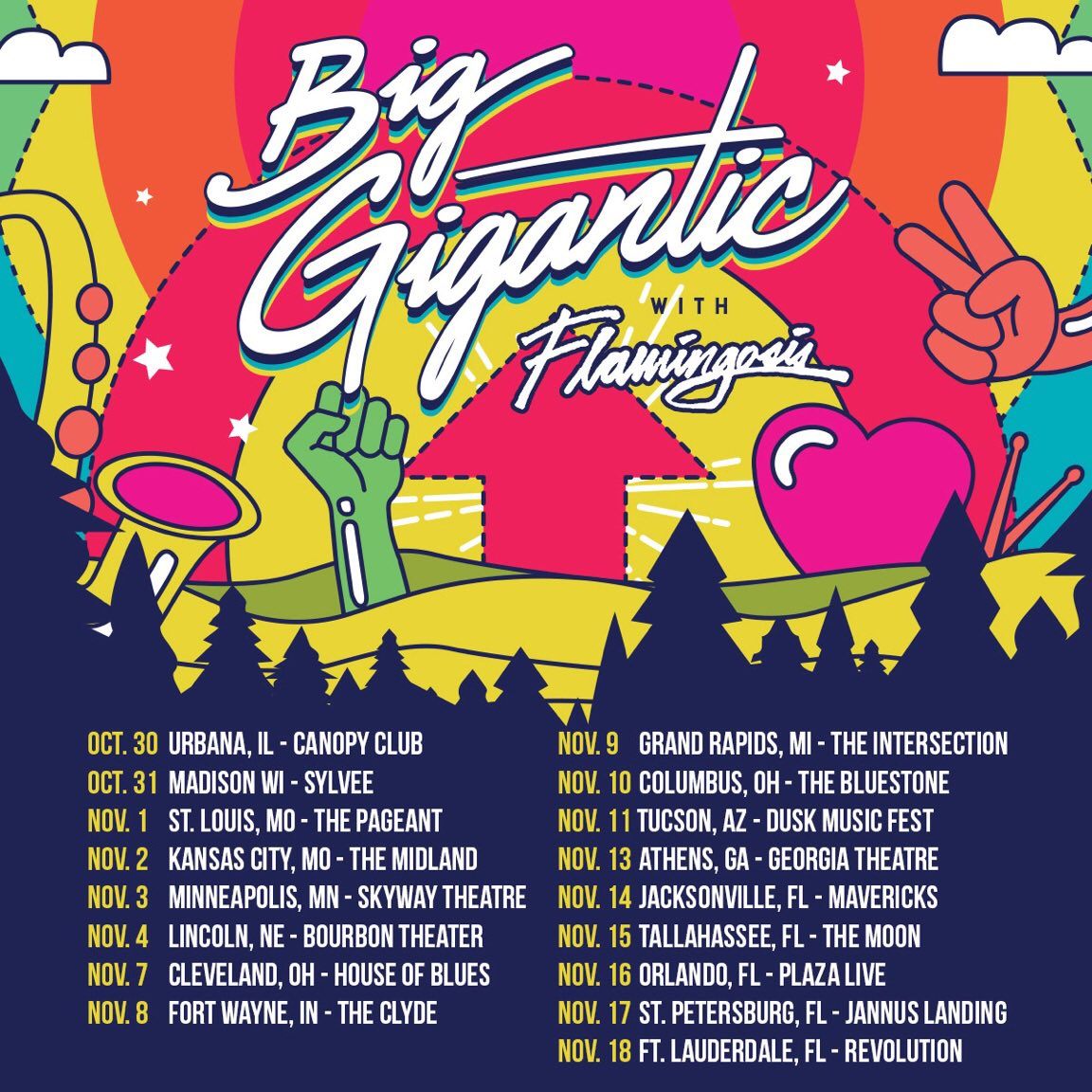 Big gigantic tour dates in Melbourne