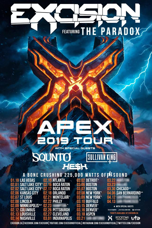 Excision @ Masonic Temple Theatre (Detroit, MI) | Tickets