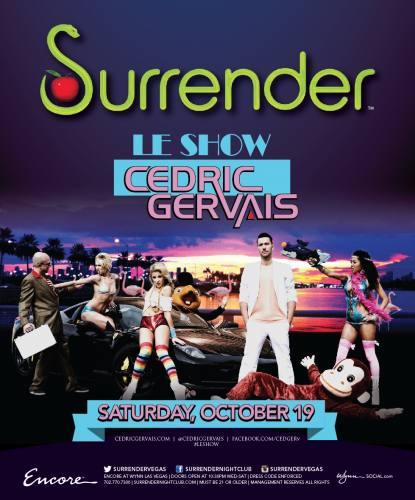 Cedric Gervais @ Surrender Nightclub (10-19-2013)