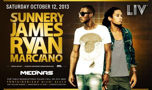Sunnery James & Ryan Marciano @ LIV Nightclub (10-12-2013)