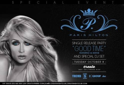 Paris Hilton at Create (single release party)