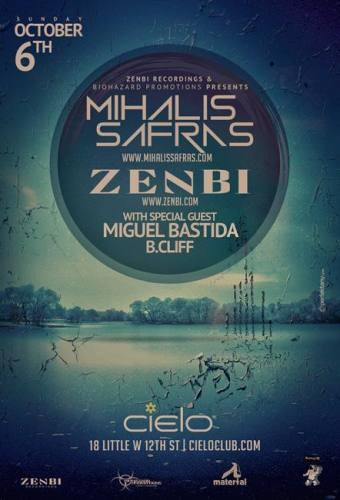 ZENBI / MIHALIS SAFRAS / MIGUEL BASTIDA | Cielo NYC | Sunday October 6