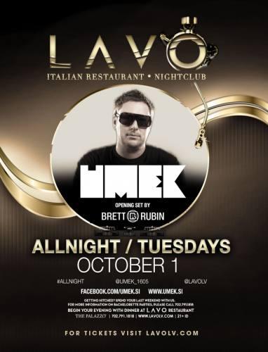 UMEK @ LAVO Las Vegas