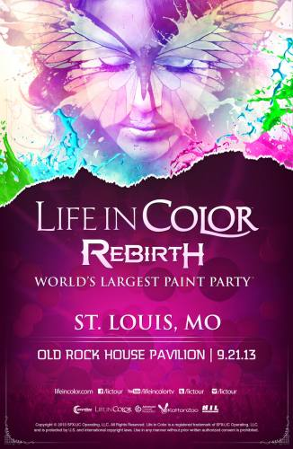Life in Color ft Dirty South, Borgore, & Basscrooks @ Old Rock House Pavilion