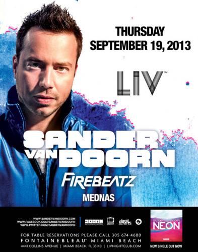 Sander van Doorn @ LIV Nightclub (09-19-2013)