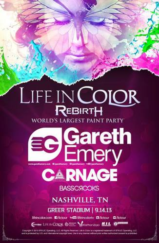 Life in Color ft Gareth Emery, Carnage, & Basscrooks @ Greer Stadium