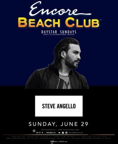 Steve Angello @ Encore Beach Club (06-29-2014)