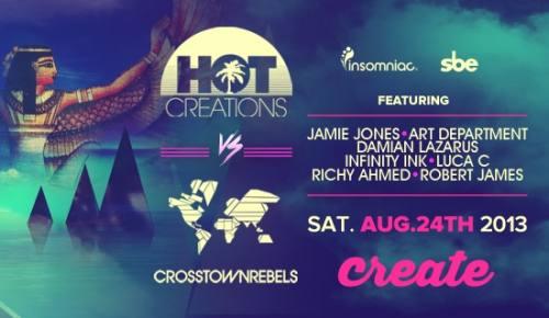 Hot Creations vs Crosstown Rebels at Create Nightclub