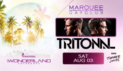 Wet Wonderland with Tritonal +Topher Jones at Marquee Dayclub