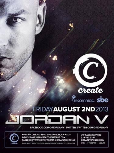 Jordan V at Create Nightclub