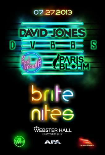 David Jones + DVBBS + Hot Mouth + Paris Blohm @ Webster Hall