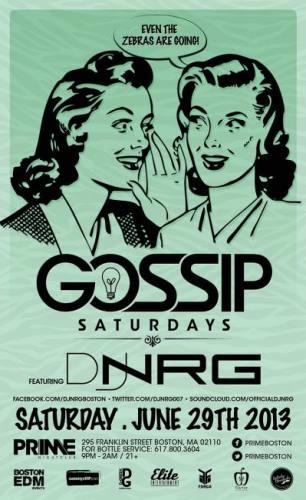 Gossip Saturdays @ PRIME