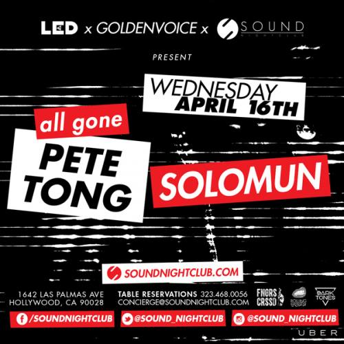 Pete Tong & Solomun @ Sound Nightclub