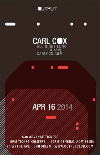 Carl Cox @ Output