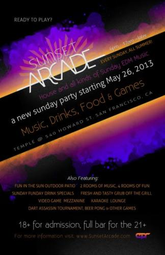 SUNSET ARCADE (PRESENTED BY EPR AND TEMPLE SF)