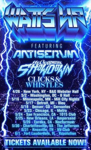 Antiserum, Helicopter Showdown, and Clicks & Whistles @ Cervantes