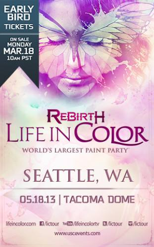 Life In Color :: Rebirth Tour @ Tacoma Dome