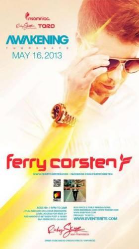 Ferry Corsten @ Ruby Skye (05-16-2013)