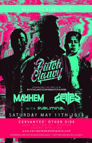 Butch Clancy, Mayhem and Getter @ Cervantes