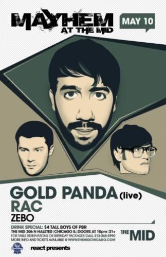 Gold Panda, Rac, & Zebo @ The MID