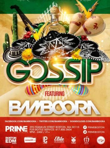 Cinco De Mayo with BAMBOORA @ Gossip Saturdays
