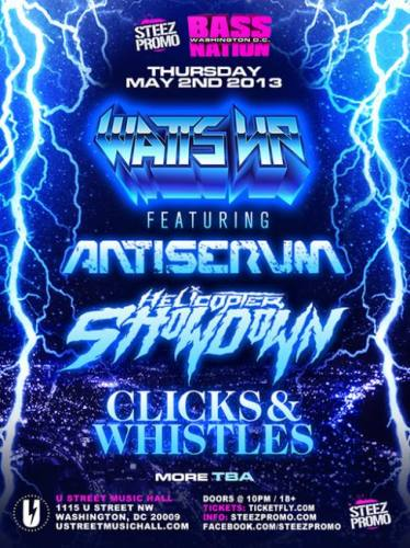Antiserum, Helicopter Showdown, and Clicks & Whistles @ U Street Music Hall